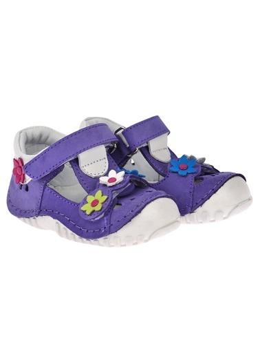 Kiko Kids Kiko Kids Teo 115 %100 Deri Orto pedik Cırtlı Kız Çocuk Ayakkabı Mor